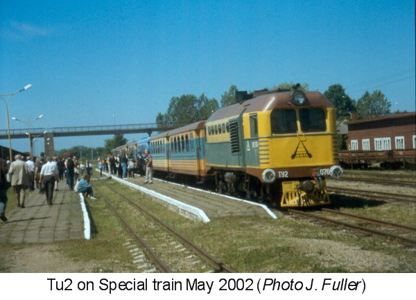Tu2 on Special train May 2002 (Photo J. Fuller)