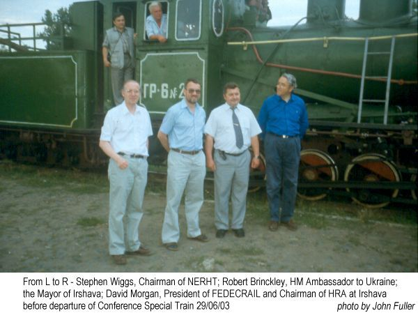 Picture of VIPs about to board Conference Special Train in Ukraine 2003