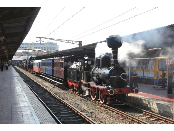 13: 2014 celebration of Romanian railway museum. 1869 Birkenhead-built 2-4-0 Calugareni<BR> heads an excursion. (Photo by Mircea Dorobantu)