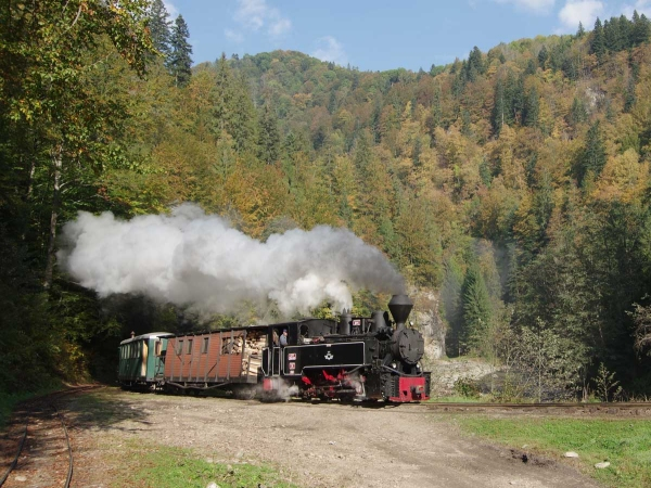 14: Locomotive no 764.449 is seen near Botiza on the narrow-gauge Viseu de Sus line<BR>in Romania in October 2016. (Photo by Dave Whitfield)