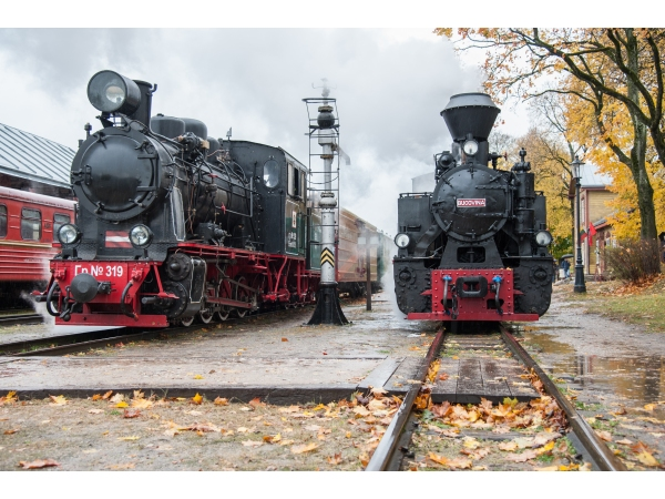 17: Trains at Panevezys in Lithuania, during the 2016 Feldbahnen festival. (Photo by Andris Biedrins).